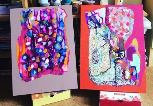 Abstract Artwork on Canvases by Rachael Hope